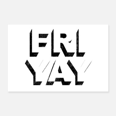 Day Of The Week Friyay retro vintage lettering (Friday pun) - Poster