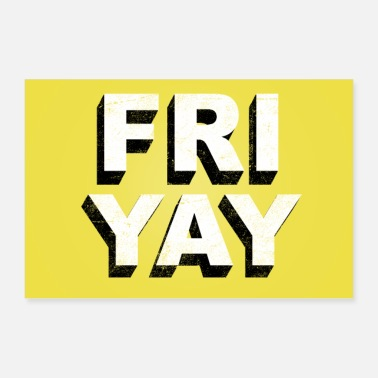 Friyay retro vintage lettering (Friday pun) - Poster