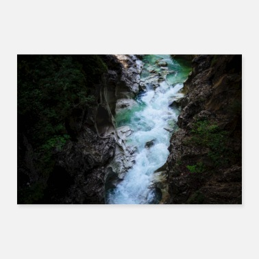 Unbelieving Whitewater Canyon Natureporn Klamm - Poster