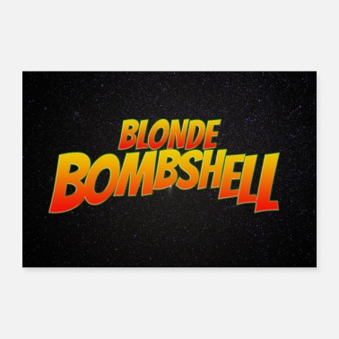 Comicstyle Blonde Bombshell komische belettering symbool Poster - Poster