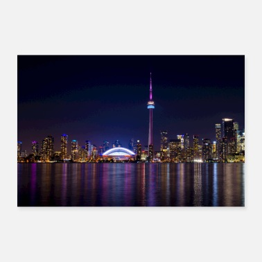 Night Toronto Skyline at Night / Toronto at Night - Poster