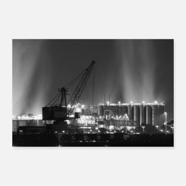 Kohlendioxid Industrial by Night - Poster