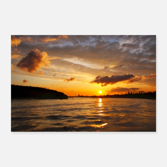 Sunset Posters - Prachtige zonsondergang - Posters wit