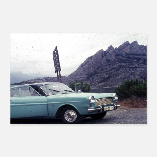 Nostalgie Posters - Auto op tournee - Posters wit