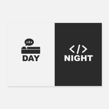 Www Sleep on days and code at night - poster - Poster