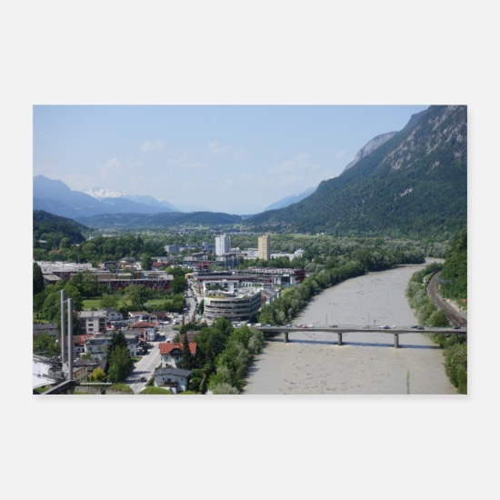 Image Posters - Vue de Kufstein - Posters blanc
