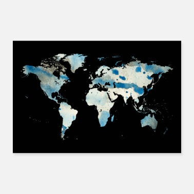 Map map of the world - Poster