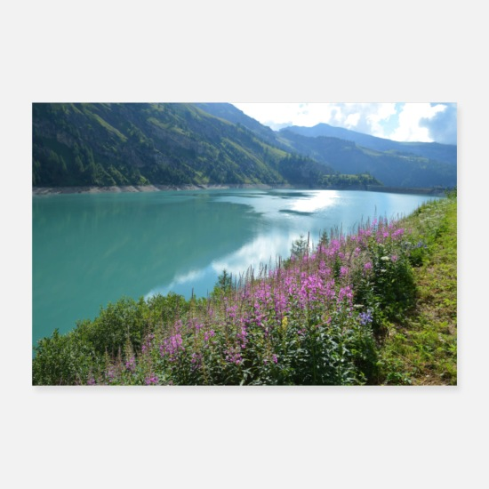 Flowers Posters - Lake Tseuzier - Posters white