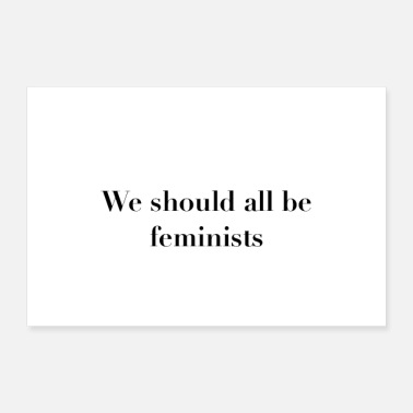 Frauenpower We should all be feminists Statement Poster - Poster