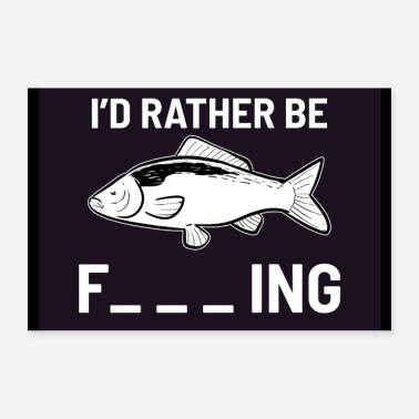 Perch Funny Fishing Quote Fisherman Bass Fish Hook Perch - Poster