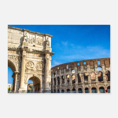 Martina The Arch of Septimius Severus italy rome - Poster