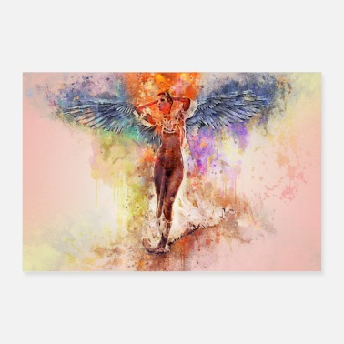 Sexy Abstract sexy nude erotic angel - Poster