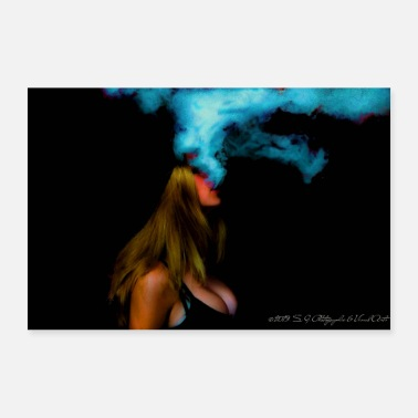 Ganja Hot smoking girl - Poster