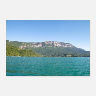 The turquoise waters of Lake Aiguebelette - Poster