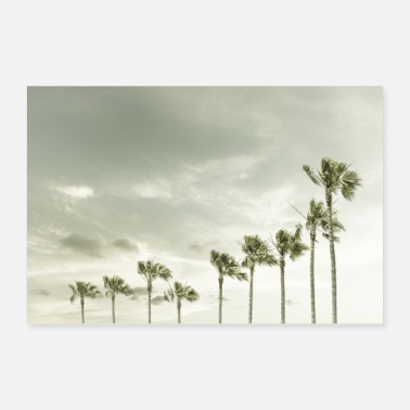 Californien Vintage palm tree idyll - Poster