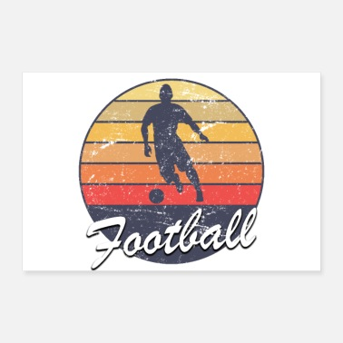 Soccer Player Sunset Football proud logo soccer player - Poster