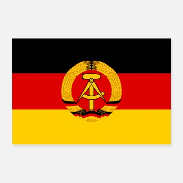 East Germany poster design flag of GDR DDR RDT RDA east Germany - Poster