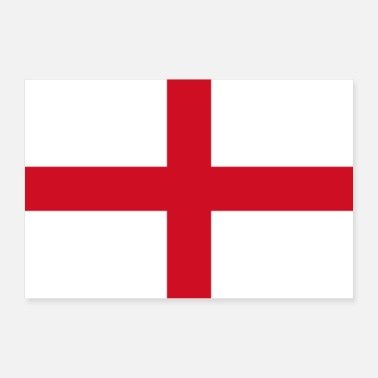 Bandera Englands flagga affisch England Angleterre - Poster