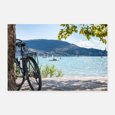 Shore Cycling on the shores of Lake Annecy - Poster