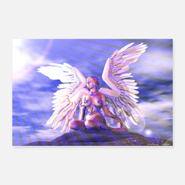 Speech Balloon ANGEL WITH WHITE WINGS - Poster 36 x 24 (90x60 cm)