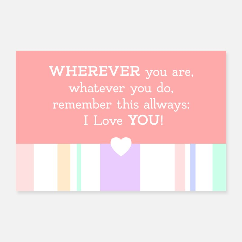Love Posters - beautiful I love you saying - wherever you are - Posters white