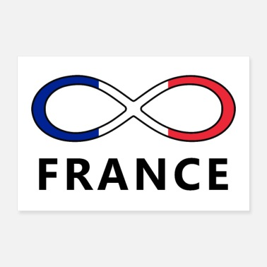France Flag France flag France Infinity infinity - Poster