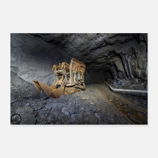 Cave Posters - Front loader - Posters white