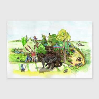 Witchington Gardens Poster - Poster 36 x 24 (90x60 cm)