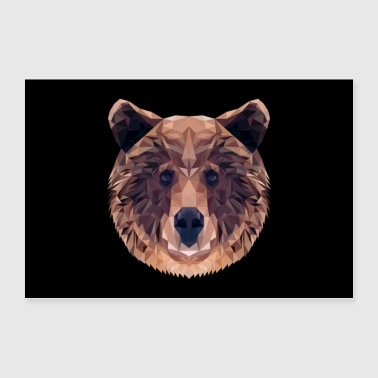 BROWN BEAR ANIMAL LOVE GIFT NATURE ANIMAL GUARD FOREST - Poster 90x60 cm