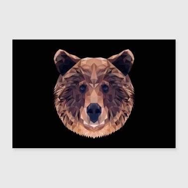 OURS BRUN ANIMAL AMOUR CADEAU NATURE ANIMAL GARDE FORET - Poster 90 x 60 cm