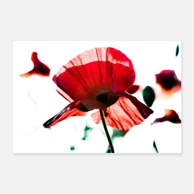 Mobile Phone poppy - Poster 36 x 24 (90x60 cm)