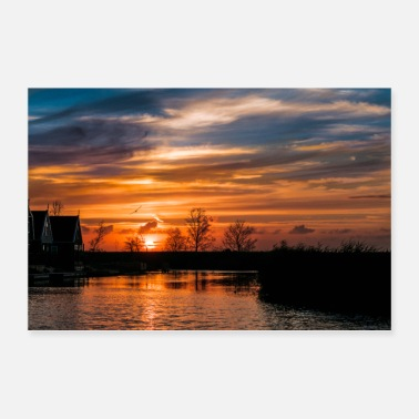 Mobile Sunset - Netherlands - Poster 36 x 24 (90x60 cm)
