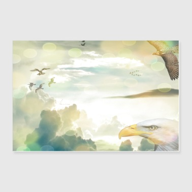 Freedom of the birds - Poster 36 x 24 (90x60 cm)