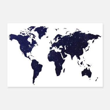 Night Sky Poster World map night sky - Poster