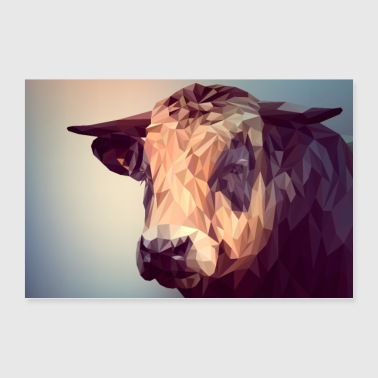 Poster cattle - Poster 36 x 24 (90x60 cm)
