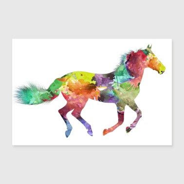 Poster horse - Poster 36 x 24 (90x60 cm)