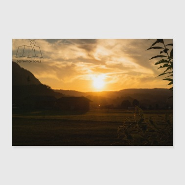 Sunset poster - Poster 36 x 24 (90x60 cm)