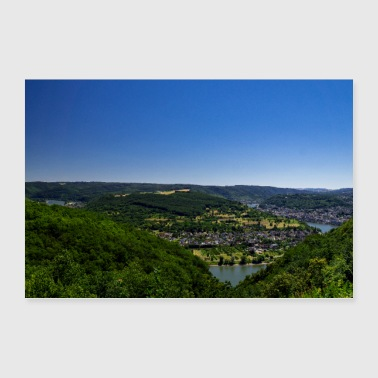 Vierseenblick Boppard - Poster 90x60 cm