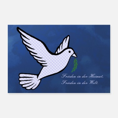 Peace Movement dove of peace - Poster 36 x 24 (90x60 cm)
