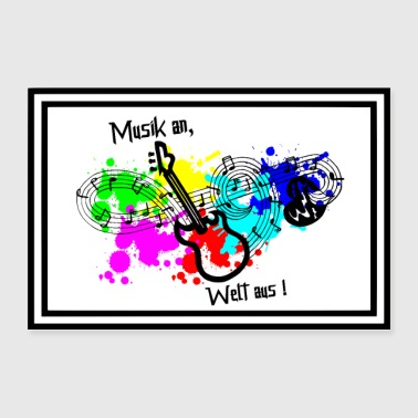 Music - Music on - Switch off with music - Poster 36 x 24 (90x60 cm)