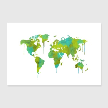 Shop spatter posters online spreadshirt world map poster poster 36 x 24 90x60 cm gumiabroncs Images