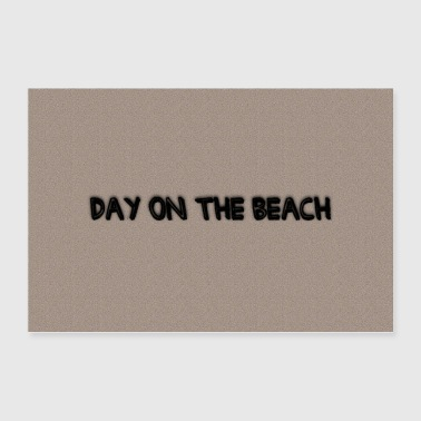 Day on the beach - Poster 90x60 cm