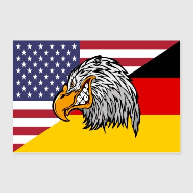 USA Germany Eagle - Poster 90x60 cm