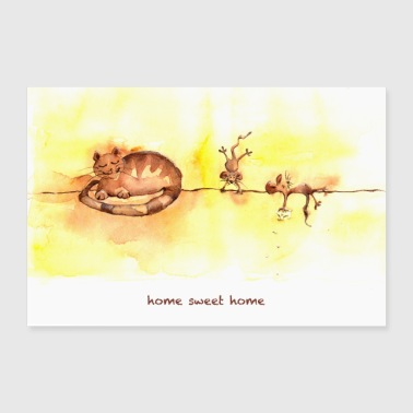 home sweet home POSTER - Poster 90 x 60 cm