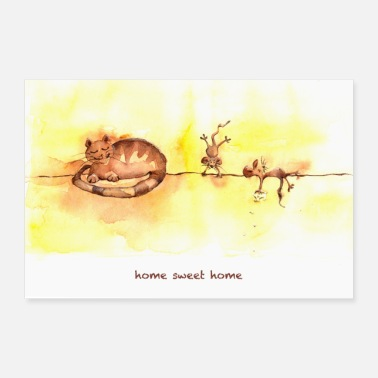 Homme home sweet home POSTER - Poster 90 x 60 cm