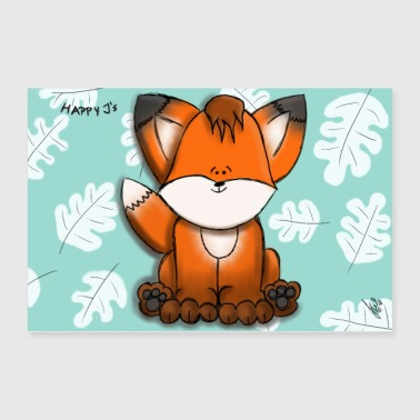 Happy J's Happy Fox Angy - Poster 90x60 cm