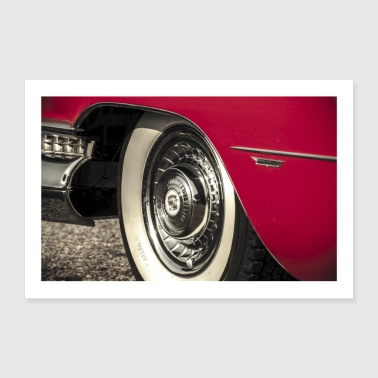 US Car Cadillac Eldorado Chrome - Poster 90x60 cm