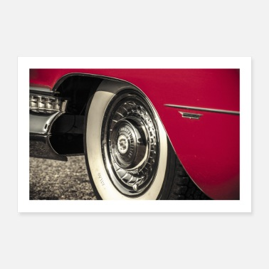 Us US Car Cadillac Eldorado Chrome - Poster 90x60 cm