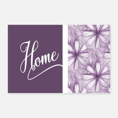 Margerite Home Home Home Lavanda Margherite - Poster