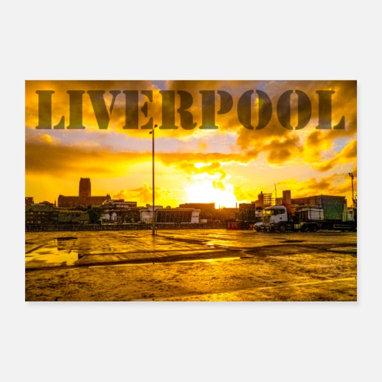 Camion Poster - Cattedrale di Liverpool - Poster bianco